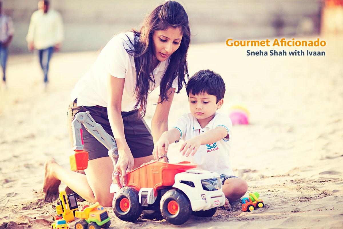 Gourmet Aficionado, Sneha Shah with Ivaan