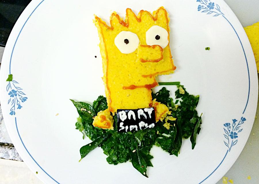Bart Simpsons Dhokla