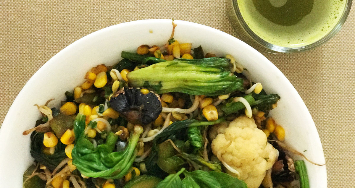 Glow With Greens: Mighty Healthy Salad
